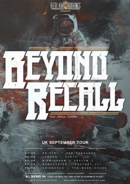 beyond recall tour flyer