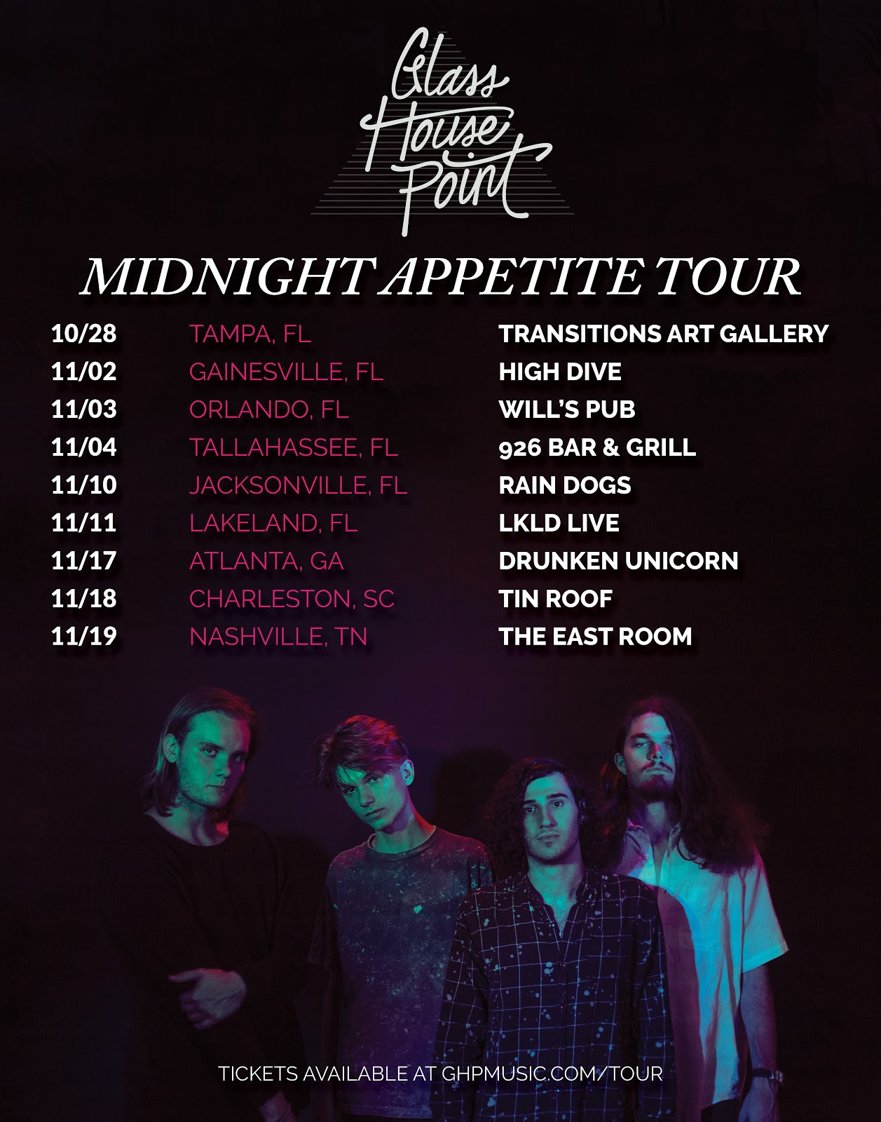 Glass House Point Announce A New Hunger In Midnight